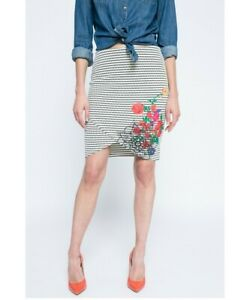 Desigual Cotton blend skirt stretch knit size Small/ AUS-UK10 NWT  (S9)