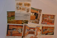 VINTAGE 1950s-60s KITCHEN CABINET SALESMAN'S 8x10 COLOR PHOTOS! & 2 BROCHURES!