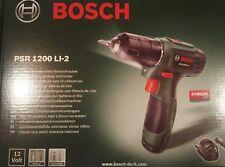 !Bosch akku-bohrschrauber psr 1200 li-2 NEU OVP versiegelt!
