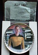 Star Trek Plate TNG Ernst 'Lt Commander Data' RARE PLATINUM RIM #168