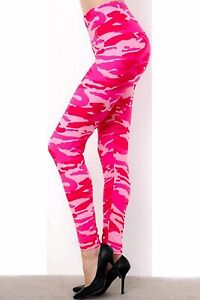 Hot Pink Camo One Size (OS) Amazing Buttery Soft Woman's Leggings