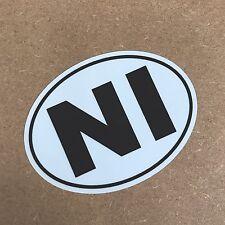 NI Decal - Northern Ireland Sticker -Van Truck Car x1 off 98x72mm