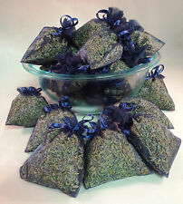 Set of 80 Lavender Sachets made with Navy Organza Bags