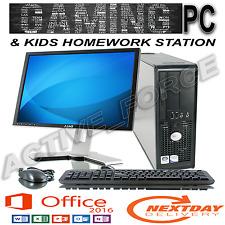 GIOCO per Bambini/Scuola Lavoro PC Desktop 250gb HDD 4gb RAM Computer Tower Windows 10