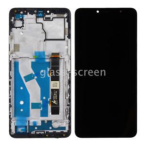 OEM Alcatel 3V 2019 5032W TFT LCD Screen Digitizer and Bezel Frame Black