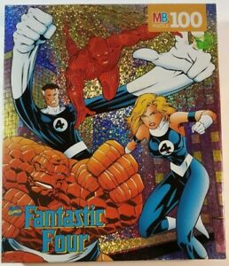 Marvel Fantastic Four Foil Jigsaw Puzzle Milton Bradley Vintage 1996 SEALED