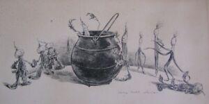 Albertine Randall Wheelan ~ Original Drawing ~ Come on Boys!  Let's Make a Soup!