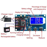 XY-L10A lithium battery charge controller protection board 6-60V LCD display XE