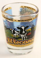 WISCONSIN STATE WRAPAROUND SHOT GLASS SHOTGLASS
