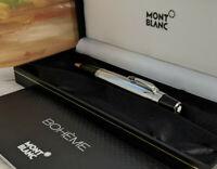 MONTBLANC Solitaire Boheme Noir Stainless Steel Black Stone Ballpoint Pen