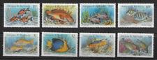 ANTIGUA & BARBUDA , 1990 , FISH , SET OF 8 , MNH , CV$15,50