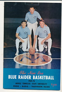 1969 - 1970 Middle Tennessee State Basketball Media guide bkbx3