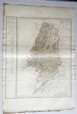 Dépt 68 - Carte Originale de 1790 Gravure sur Cuivre Aquarellée 85 x 58 cm