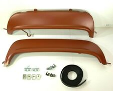 Pair Fender Skirts for 1955 1956 Ford Victoria Fairlane (Kit Clamps Rubber)