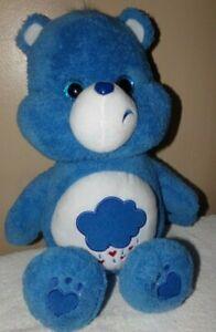"Care Bears Grumpy Bear 20"" Teddy Bear 2018 Just Play ~ Blue w Big Sparkle Eyes"