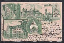 MTR 36339) Litho AK Gruss aus Münster i/W. 1900