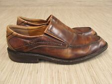 Ecco Brown Leather Shoes Men's Size US 11-11.5 EUR 44 Slip On Loafers Formal