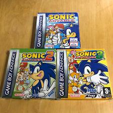 Nintendo Gameboy Advance Box + Inserts - Sonic Advance 1 2 & 3