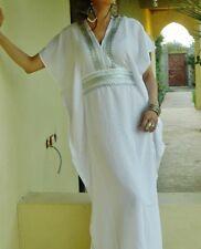 NEW BEACH KAFTAN FASHION DRESS COVER UP WHITE MARINE RESORT ABAYA CAFTAN