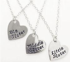 Girl Children Heart big little SISTER Necklace Gift sister sisterhood sibling