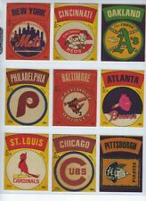 1968-72 Fleer Team Logo Cloth Patches 9 Different Teams