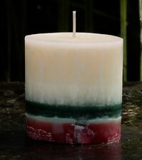 70hr ' FORREST ' Layered Scented TIE DYE ART OVAL Eco CANDLE House Warming Gifts