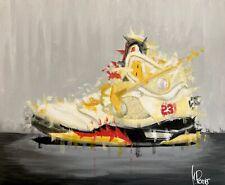 Nike Air Jordan V Off White Sail Artwork. Acrylic on canvas Painting 55x45cm.