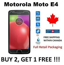 Motorola Moto E4 - Tempered Glass Premium HD hard Screen Protector Cover Canada