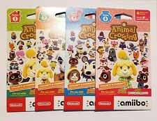 (4 packs, 24 cards) Animal Crossing Amiibo Card Pack Series 1-4  Factory Sealed