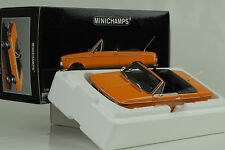 1967 BMW 1600 Cabriolet orange 1:18 Minichamps