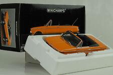 1967 bmw 1600 cabriolet naranja 1:18 Minichamps