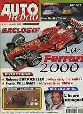 AUTO HEBDO n°1220 du 5 Janvier 2000 VW GOLF GTI & BEETLE 1.8T F RENAULT2000 2000
