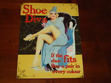 Wall Picture Plaque Shoe Diva Metal Sign If The Shoe Fits Buy A Pair - Stockings