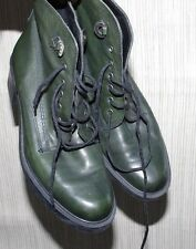 SAMOA ITALY LEATHER GREEN ANKLE  INSULATED LACE UP BOOTS WOMEN SIZE:38 USA 7,5