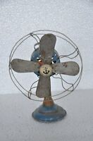Vintage Wind Up Anchor Trademark Litho Tin Fan Toy / Model , Japan
