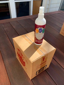 WINE AWAY Red Wine Stain Removal 360ml x 12 bottles PLUS free organic tshirt (L)