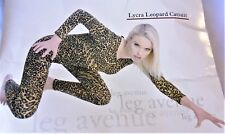 Sexy Leopard One Piece Catsuit Adult Costume Nature Animal Jungle Party N30