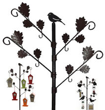 Wild Bird Bird Feeding Station with Leaves in Brown Hammertone Garden Water Bath