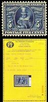 330, Mint 5c - SUPERB OG NH GEM With PFC - A Remarkable Stamp!