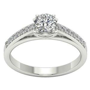 SI1 G 0.80 Ct Round Diamond Solitaire Anniversary Ring Appraisal 14K Solid Gold