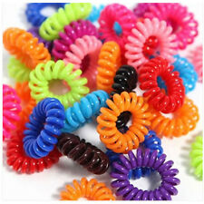 10 Pcs Multicolour Girls Elastic Rubber Hair Ties Band Rope Ponytail  Bracelets