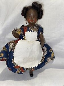 Vintage  Marked  France 175 2 Black Celluloid Jointed Doll