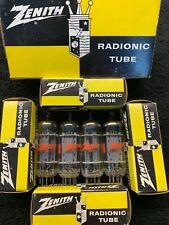 NOS NIB Matched Quad Zenith GE 6CG7 6FQ7 Tubes USA 1960's
