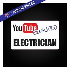 Youtube Qualified ELECTRICIAN - FUNNY PRANK Sticker Tools Shed Car Decal Toolbox