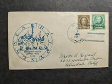 Uss Lapwing Am-1 Naval Cover 1941 New Year's Cachet Coco Solo, Canal Zone
