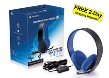 Sony® Playstation Silver Wired HD Stereo Gaming Headset PS3 PS4 Vita PC USB