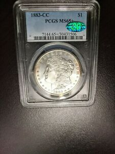 1883-CC Morgan Silver Dollar PCGS MS 65+    CAC Sticker Proof  Like Coin!
