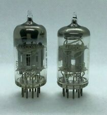 ECC83 Marconi Spain silver anode matched pair 2 pieces NOS tube valve