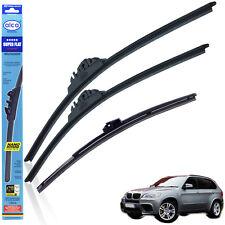 """BMW X5 2007-2012 wiper blades alca SUPER FLAT 24""""20""""SL + rear 15""""x5"""
