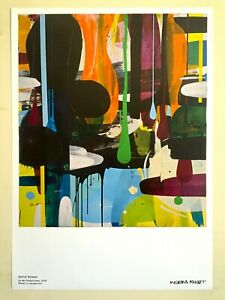 """ASTRID SYLWAN ABSTRACT LITHO PRINT SWEDEN MUSEUM POSTER """" AS WE FLOATED AWAY """""""